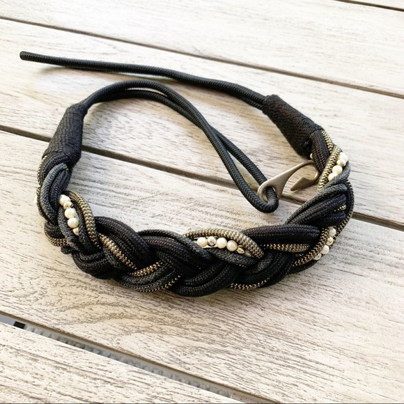 Accessories - LAST CHANCE VINTAGE Beaded Stretch Belt